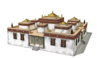 Lhasa Jebumgang temple, 3-D model by Ken Okuma based on THF survey. Photo: Tibet Haritage Fund