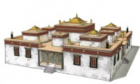 Tibetan Buddhist architecture. Photo: Outlook Tibet