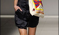 A model walks the ramp with the Tibet Bag. (Photo: Reuters)