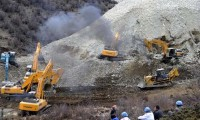 The Gyama mine landslide occurred on March 29, state media said that over 80 people had been buried. Photo: Outlook Tibet