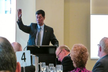 Dr Lobsang Sangay participated in a Q&A style interview at the Sydney Opera House last weekend.