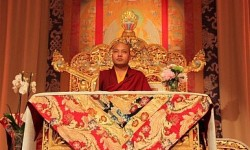 The 17th Karmapa Ogyen Trinley Dorjee during a teaching in Paris to Buddhist followers in Europe. Photo by Saransh Sehgal (June 5, 2016).