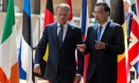 Expand  European Council President Donald Tusk and Chinese Premier Li Keqiang arrive at the EU-China Summit in Brussels on June 2, 2017. © 2017 Reuters